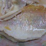 水キムチの漬け汁で鯛を煮付けてみました