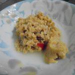 挽きわり納豆と水キムチの漬け汁と米麹味噌で納豆ダレ