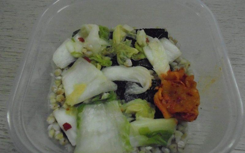 植物性乳酸菌メインの、ソバの実弁当